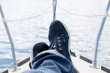 photo: relaxing onboard sailboat after divorce