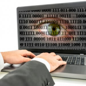 computer screen with spyware