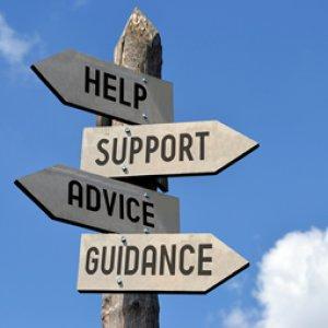 help, support, advice, guidance