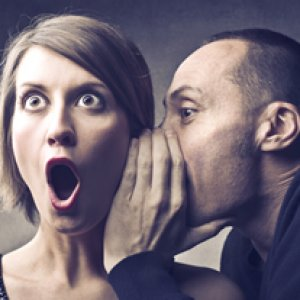 photo man telling woman bad divorce advice