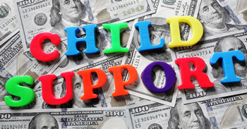 image of child support text