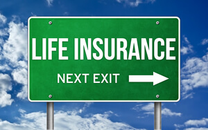 image life insurance road sign with arrow